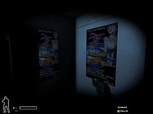 In-game advertising - A poster campaign for Tripping the Rift in SWAT 4.