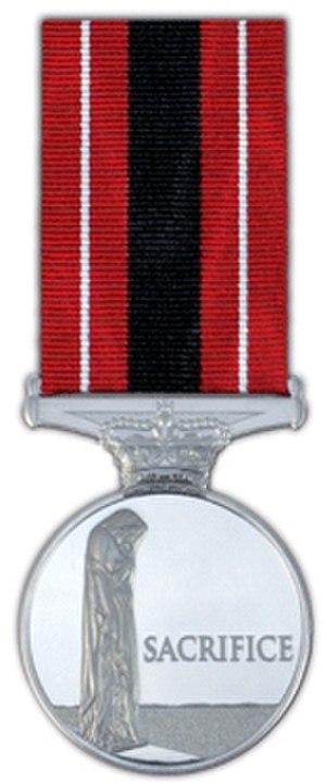 Sacrifice Medal - Image: Sacmedal