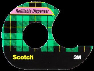Scotch Tape - Modern Scotch brand acetate tape packaging showing the distinctive tartan design