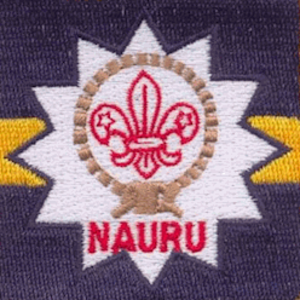 Scouting and Guiding in Nauru - The Scout emblem incorporates elements of the flag of Nauru.