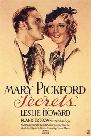 Secrets (1933 film) - Theatrical poster