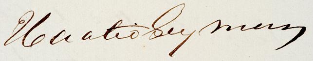 Horatio Seymour's signature