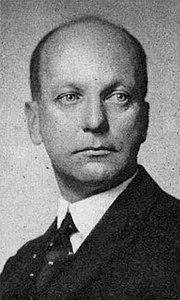Sir Giles Gilbert Scott in 1933, as President-elect of RIBA.