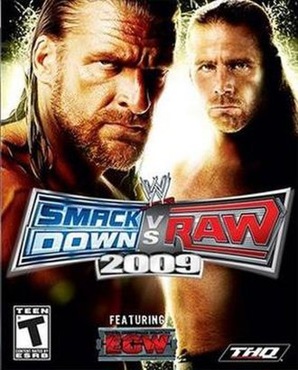 WWE SmackDown vs. Raw 2009 - NTSC cover art featuring D-Generation X (Triple H and Shawn Michaels)