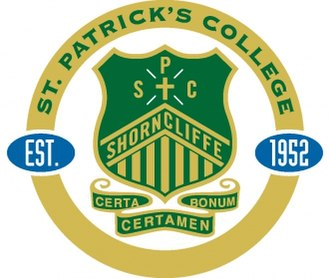 St Patrick's College, Shorncliffe - Image: St Patrick's College, Shorncliffe crest
