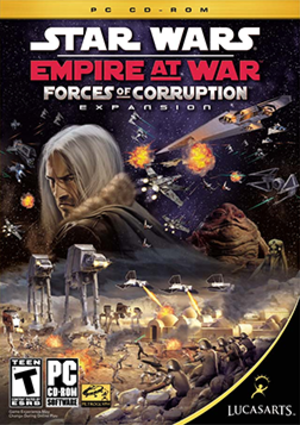 Star Wars: Empire at War: Forces of Corruption - Image: Star Wars Empire at War Forces of Corruption Coverart