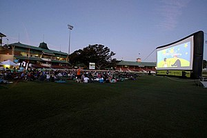 North Sydney Oval - Image: Starlight cinema at North Sydney Oval