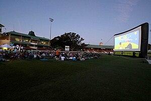 North Sydney Oval - Image: Starlight cinema at North Sydney Oval