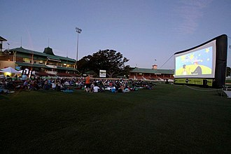 North Sydney Oval - Outdoor cinema with inflatable movie screen