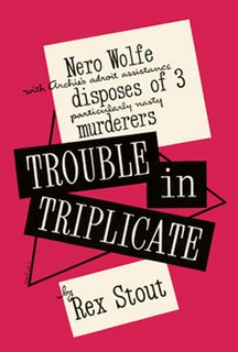 <i>Trouble in Triplicate</i> book by Rex Stout