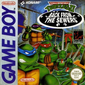Teenage Mutant Ninja Turtles II: Back from the Sewers - North American cover art
