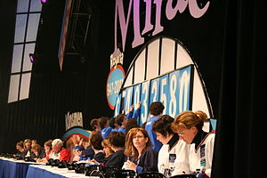 Telemiracle - One of the many totals during the telethon