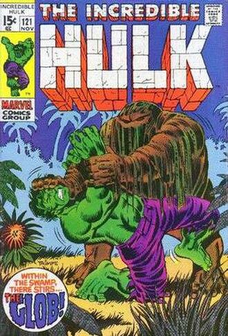 Glob (comics) - Image: The Incredible Hulk (no. 121) (cover art)