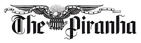 The masthead of The Piranha