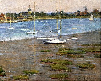 Cos Cob, Connecticut - The Anchorage, Cos Cob by Theodore Robinson, ca. 1894