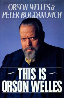<i>This is Orson Welles</i> book by Orson Welles