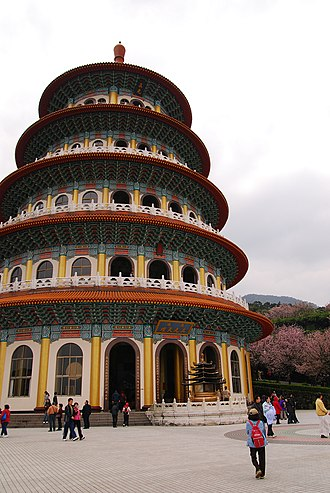 Religion in Taiwan - Tianyuanggong, a temple of Yiguandao in Tamsui, New Taipei.