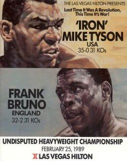 Mike Tyson vs. Frank Bruno Boxing competition