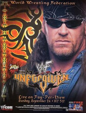 Unforgiven (2000) - Promotional poster featuring The Undertaker
