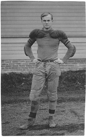Warren Grimm - Warren (Wedge) Grimm, University of Washington Husky, circa 1911.