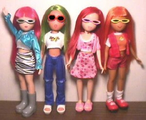 What's Her Face (doll) - What's Her Face Dolls: Glam, Hip, Sweet and Cool
