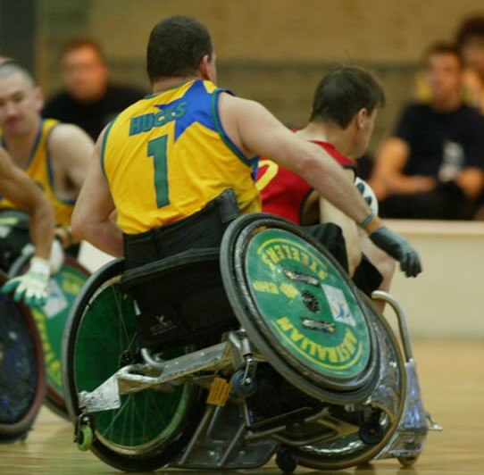 Wheelchair rugby game 1