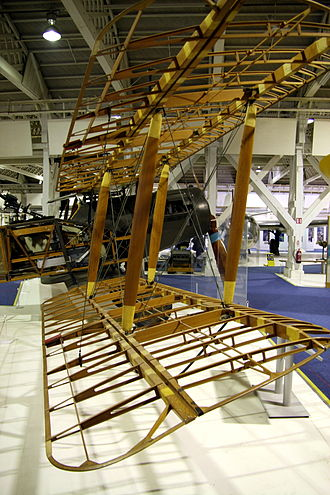 Bristol F.2 Fighter - Wing structure of F.2 at RAF Museum London