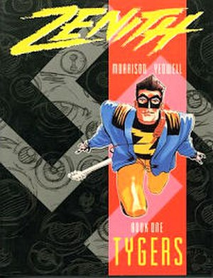 Zenith (comics) - Steve Yeowell's cover to Zenith Book one.
