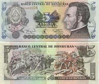 Honduran lempira - Image: 5Lempira