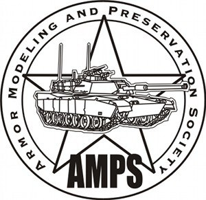 Armor Modeling and Preservation Society - AMPS logo.