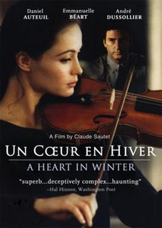 <i>A Heart in Winter</i> 1992 film by Claude Sautet