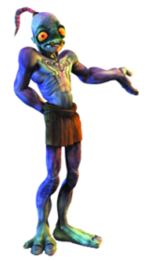 Abe (Oddworld) - Abe as seen in promotional artwork