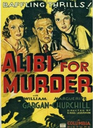 Alibi for Murder - Film poster