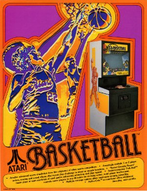 Basketball (1979 video game) - Basketball arcade flyer