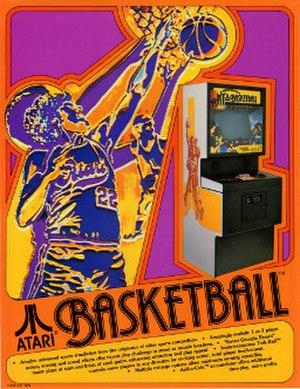 Basketball (1979 video game) - Basketball arcade flyer