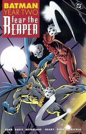 Batman: Year Two - Cover of the 2002 re-issue of the collected edition, Batman Year Two: Fear the Reaper.