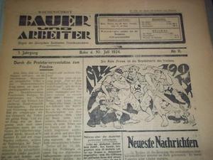 Bauer und Arbeiter - Image: Bauer und Arbeiter cover 1924