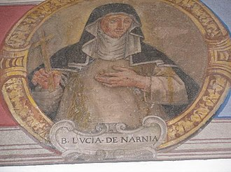 Lucy Brocadelli - A fresco in Narni depicting Blessed Lucy