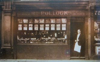 Benjamin Pollock's Toy Shop - Benjamin Pollock stands outside the Hoxton Street shop