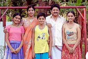 Bharya Onnu Makkal Moonnu - A promotional still from the movie