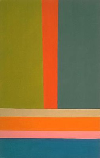 Jack Bush - Bush, Big A, acrylic on canvas, 1968