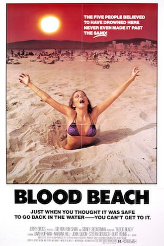 Blood Beach - Theatrical release poster