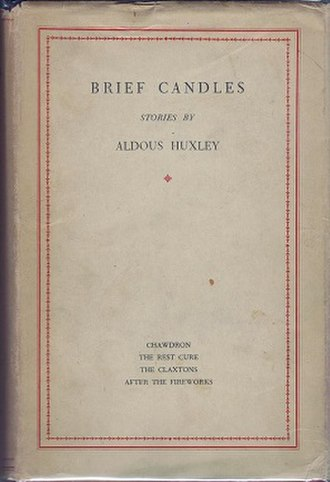 Brief Candles - First edition cover (Chatto & Windus)