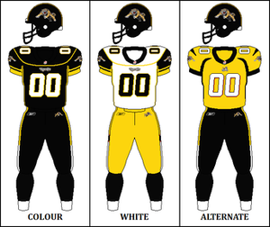 2007 Hamilton Tiger-Cats season - Image: CFL HAM Jersey 2007