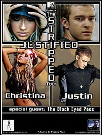 Justified and Stripped Tour - Image: Cajt jstposter