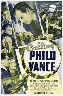 <i>Calling Philo Vance</i> 1940 film by William Clemens