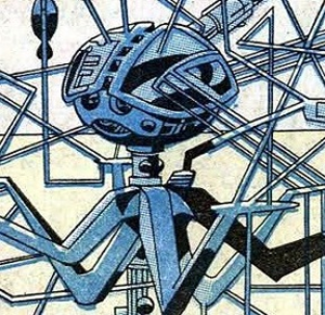 Professor X - Cerebro in X-Men vol. 1, 7 (September, 1964 Marvel Comics). Art by Jack Kirby.