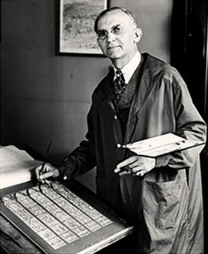 Charles Jay Connick - Charles Connick at work circa 1945