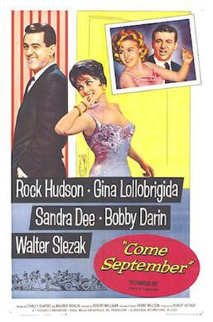 Come September - 1961 Theatrical Poster