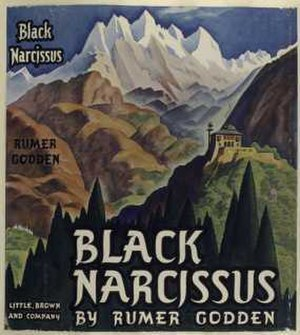Rumer Godden - Cover of Black Narcissus (1939), published by Little Brown Co.